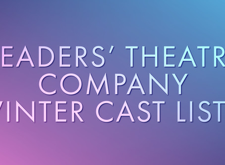 Majestic Readers' Theatre Company Winter Cast Lists