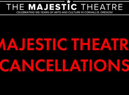Majestic Theatre COVID-19 Cancellation Post
