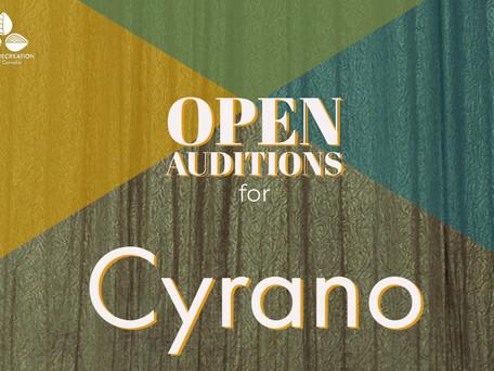 OPEN AUDITIONS: Majestic Readers' Theatre Company presents Cyrano