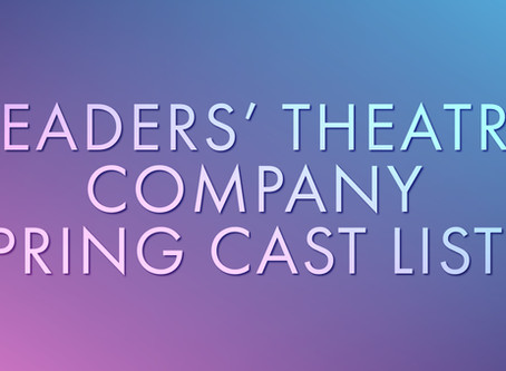 Majestic Readers' Theatre Company Spring Cast Lists