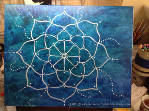 White-Mandala-Painting