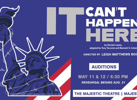 It Can't Happen Here Auditions Rescheduled
