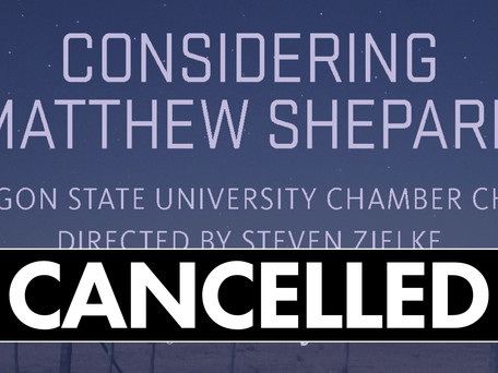 ANNOUNCEMENT: Considering Matthew Shepard Cancelled