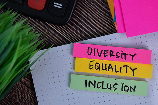 Diversity Equality Inclusion write on a