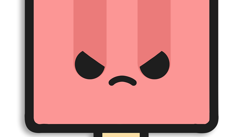 ANGRY Popsicle Sticker