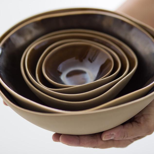 Bowls em Pétalas Bronze