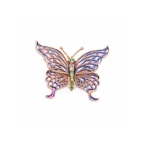 Broche cuajado Circonita modelo Mariposa