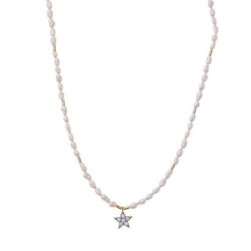 Colgante de perlas con Estrella