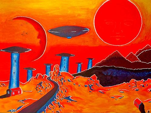 """The Abduction"" (UV Acrylic on Canvas)"