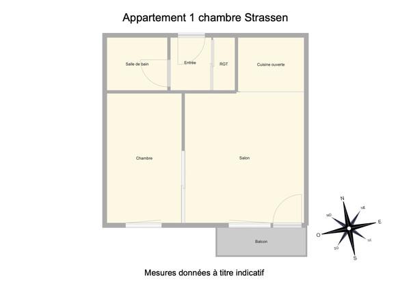 Appartement 1 chambre Strassen