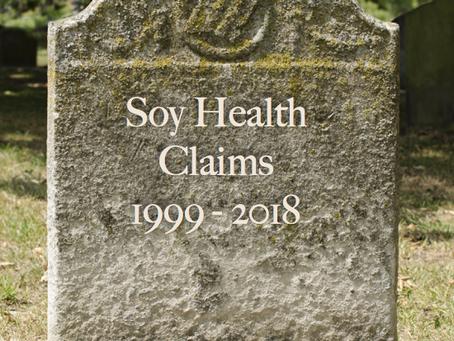 """Losing status """"Soy"""" may no longer be heart healthy."""