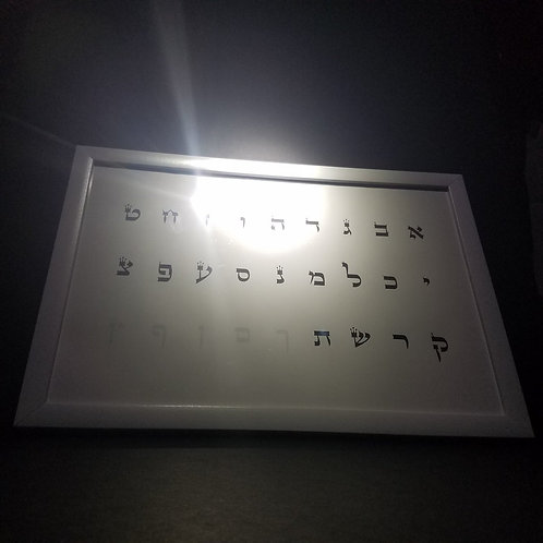 REAL ALEF BET NUMBER CHART (POSTER)