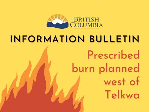 Prescribed burn planned west of Telkwa