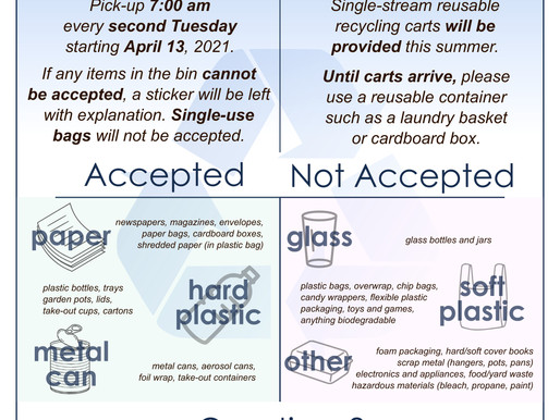 CURBSIDE RECYCLING IS BACK