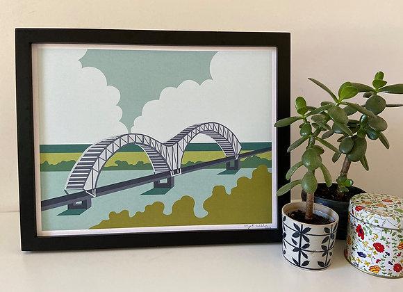 Memphis Bridge | Art Print 11x14