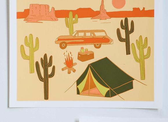 Desert Camp I Art Print