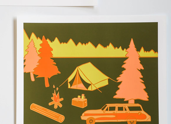 Mountain Camp I Art Print
