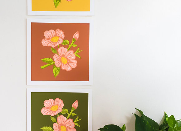 Wild Rose I Art Print