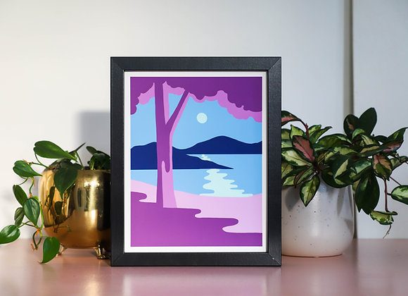 Purple Beach I Art Print