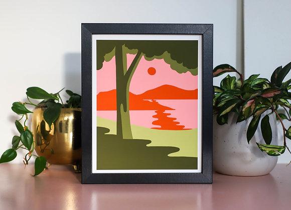 Pink Beach I Art Print