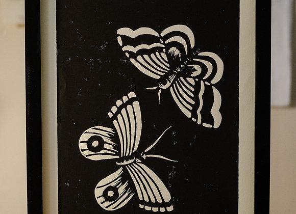 Moth   Block Print