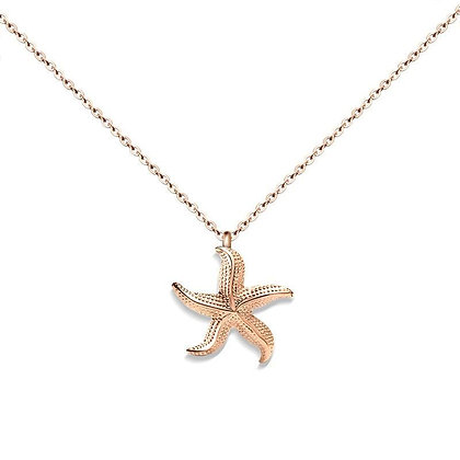 Starfish Necklace - Rose Gold