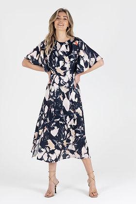 Zibi London Flor Satin Midi Dress