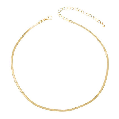 Snake Bone Chain Necklace - Gold or Silver
