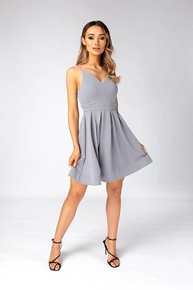 Skirt & Stiletto Dahlia - Skater Dress - Dusty Blue