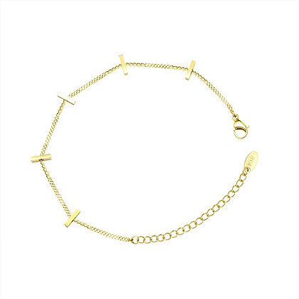 Bamboo Style Bracelet - Gold or Rose Gold