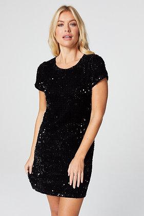 Stella Black Sequin Embellished Dress