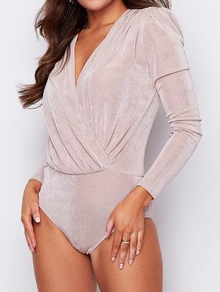 Girl In Mind Amara Long Sleeve Wrap Bodysuit