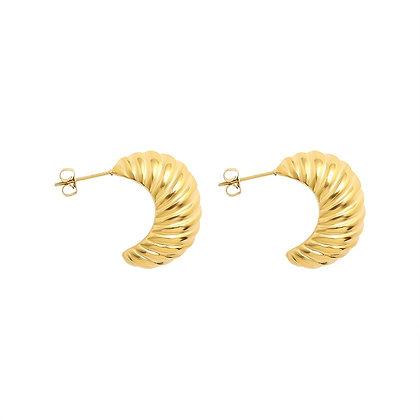 Croissant Earrings - Gold