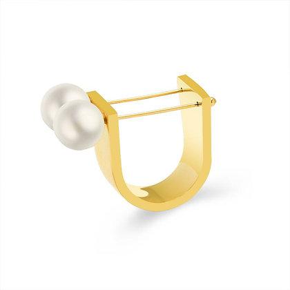 Retro U-shaped Ring - Gold