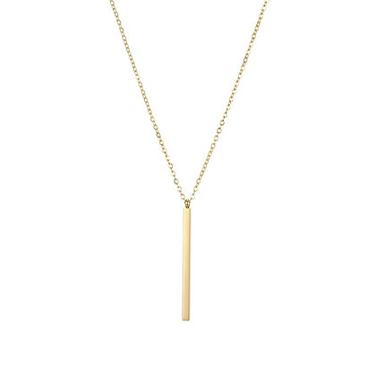 Bamboo Style Stainless Steel Necklace - Gold or Silver