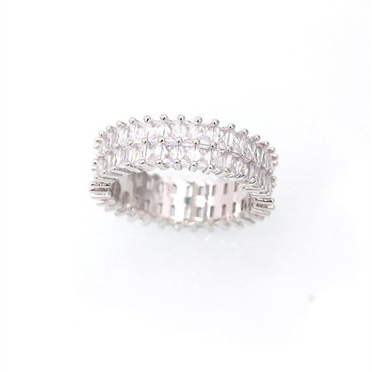 Titanium & Stainless Steel Geometric Ring
