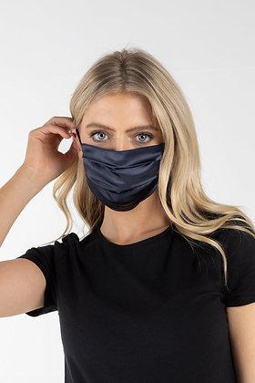 Zibi London Satin Face Mask in Navy