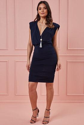 City Goddess Wrap Style Bodycon Mini Dress