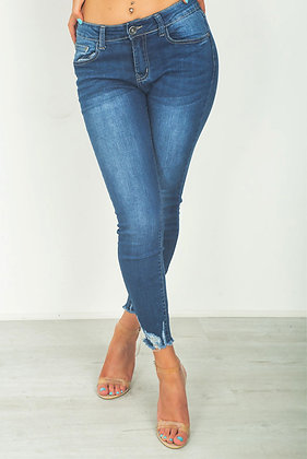 My Bestiny Cadet Frayed Hem Skinny Jeans