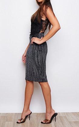 Girl In Mind Evelyn High Neck Sleeveless Midi Dress