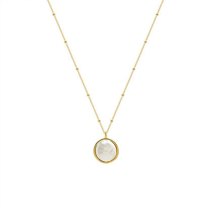 Imitation Pearl Necklace - Gold or Silver