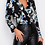Thumbnail: Girl In Mind Gemma Wrap Collar Bodysuit Black Floral