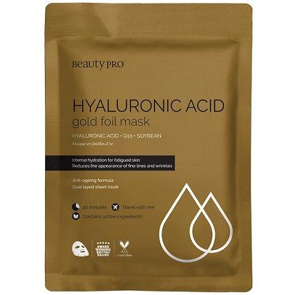 Beauty Pro Hyaluronic Acid Gold Foil Mask