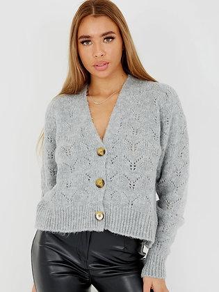 Volumex Soft Knit Button Front Cardigan