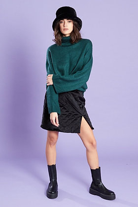 Violet Romance Relaxed Fit Roll Neck Jumper