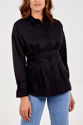 QED Long Sleeved Pintuck Shirt