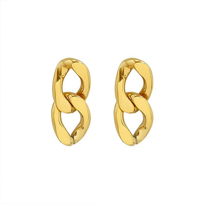 Retro Chain Earrings - Gold