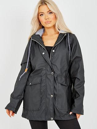 Rising PU Coated Hooded Rain Mac