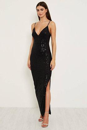 Skirt & Stiletto Valentina Sequin Maxi Dress - Black