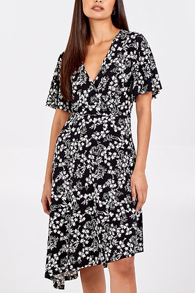 QED Asymmetric Wrap Dress